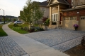 Interlock driveway with natural stone steps in Toronto