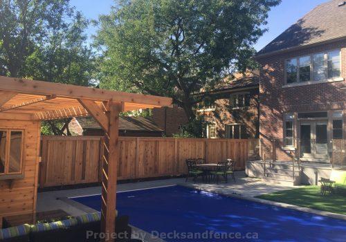 2 Decks with glass railings and cedar
