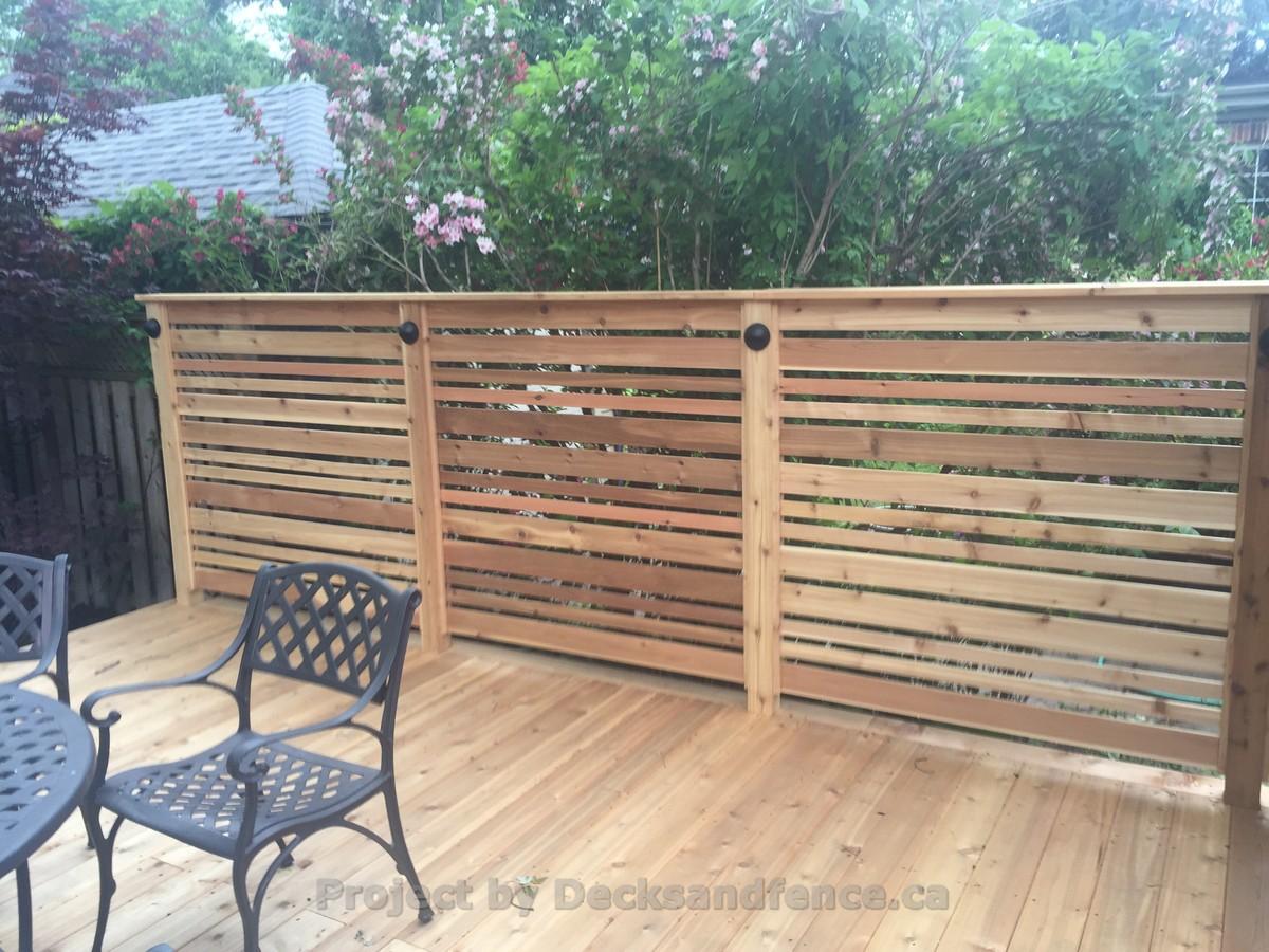 Glass railings for decks - 2 Decks With Glass Railings And Cedar Toronto Decks Design Deck Building Company Pvc Azek And Cedar