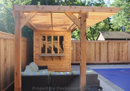 PVC Deck with cabana and pergola