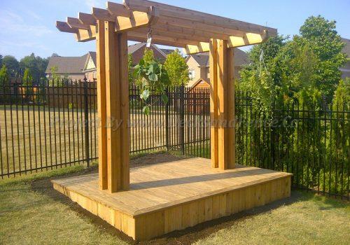 Pergola and cedar deck design
