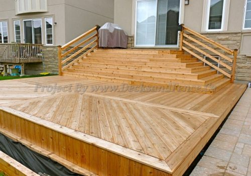Multi level cedar deck