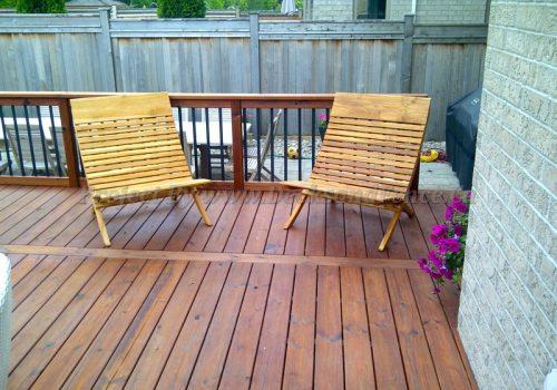Patio deck and interlock