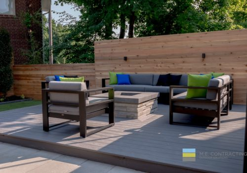 Deck Designs with Outdoor Kitchen and Fire Pit