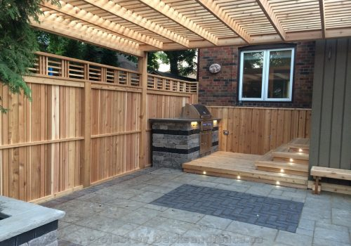 Landscaping Project with Fence Deck and Pool