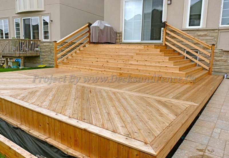 Multi Level Cedar Deck Toronto Decks Design Amp Deck